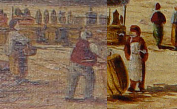 Cleaning historic oil painting by removing discoloured varnish