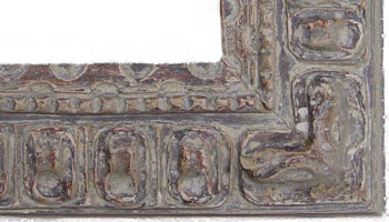 Detail of reproduction Spanish picture frame.