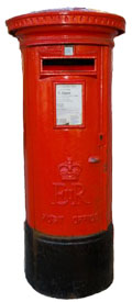 A post box. Works on paper can easily be sent by post or courier.