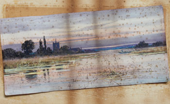 Restoring a watercolour. Staining coming through from backing.